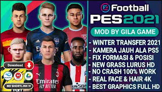 Download PES 2021 TM ARTS PPSSPP New Update Winter Transfer Musim Dingin 2021 & Graphics HD Camera PS5