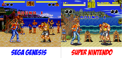 Super Nintendo VS Megadrive