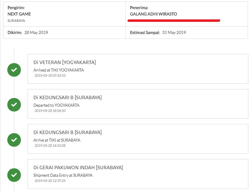 tiki menyediakan fitur tracking resi di website resminya