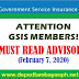 Must Read GSIS Advisory to members
