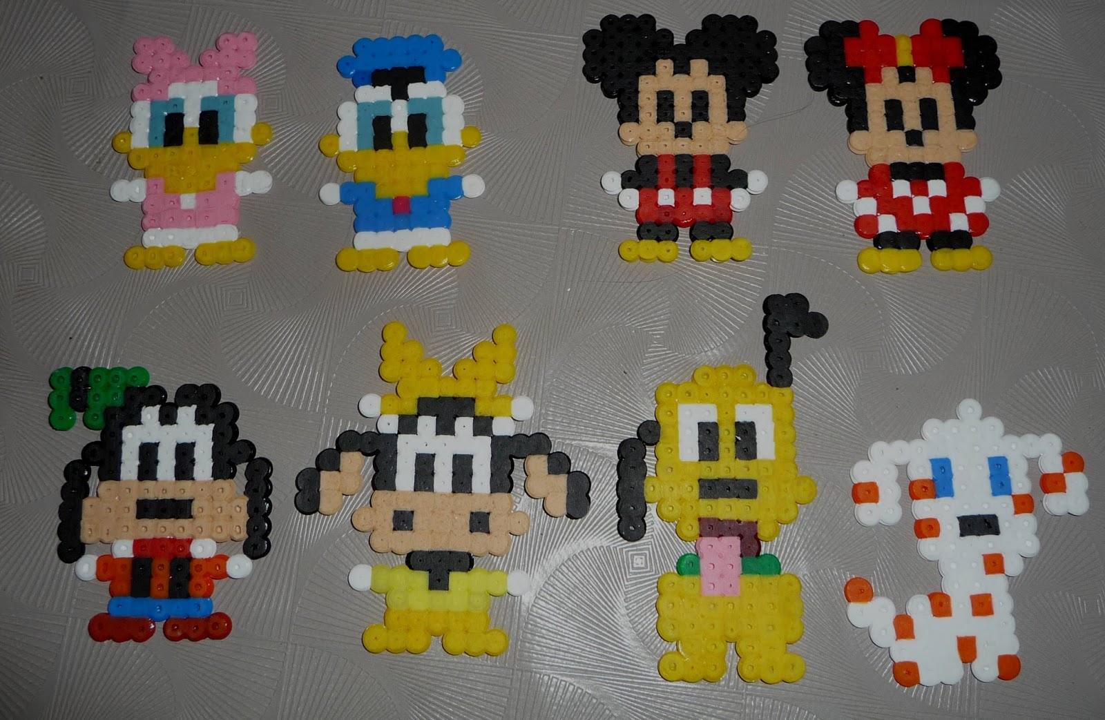 Cuill re aiguille et scie sauteuse personages disney classiques en perles hama mickey minnie - Mickey et plutot ...