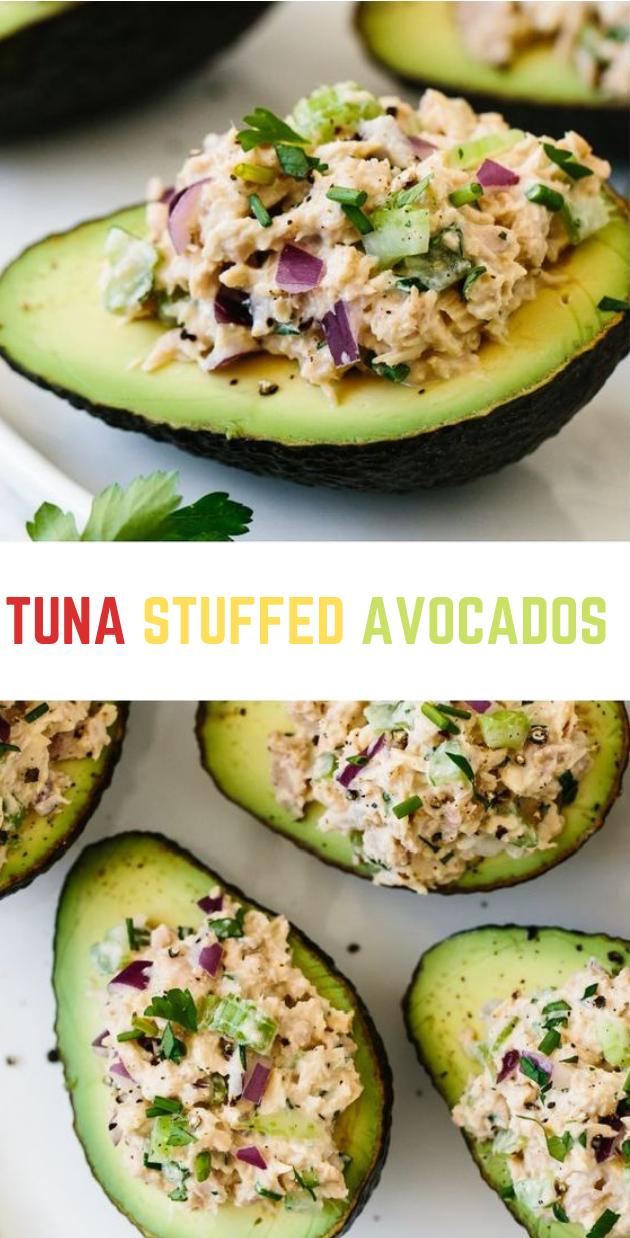 TUNA STUFFED AVOCADOS #tuna #diet