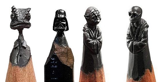 Pequenas Esculturas na ponta do Lápis - Salavat Fidai