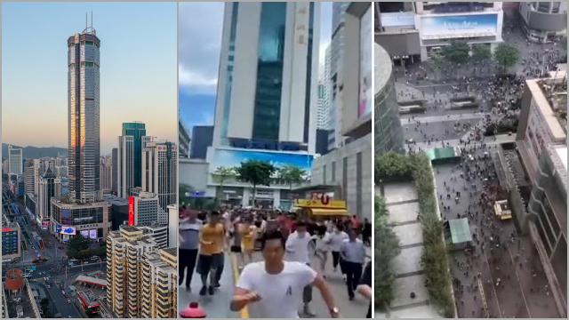 Gedung Pencakar Langit di China Bergoyang Padahal Tidak Ada Gempa, Pengunjung Berhamburan