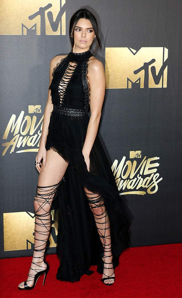 Kendall Jenner Won The MTV Movie Awards Red Carpet