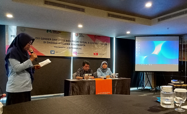 Pelatihan Isu-isu  Gender dan Anak Bagi Content Creator Yogyakarta