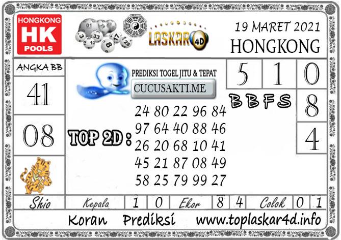 Prediksi Togel HONGKONG LASKAR4D 19 MARET 2021