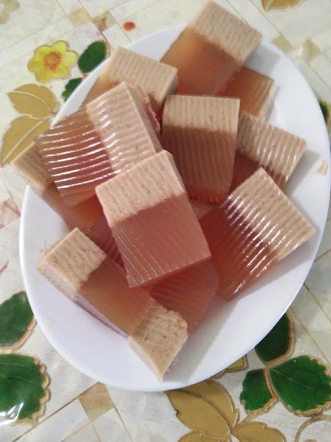 resepi agar-agar santan gula merah yang senang