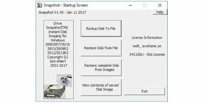 Screenshot Drive SnapShot 1.45.0.17698 Full Version