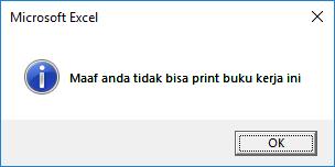 pesan tidak sanggup print