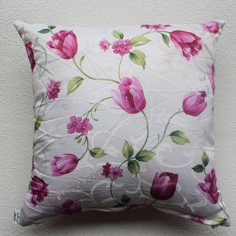 White Bold Flowers Accent, Decorative Throw Pillow in Port Harcourt Nigeria
