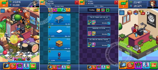 download PewDiePie's Tuber Simulator Apk Mega Mod v1.0.4 New Version hack Mod money bux brain bisa save