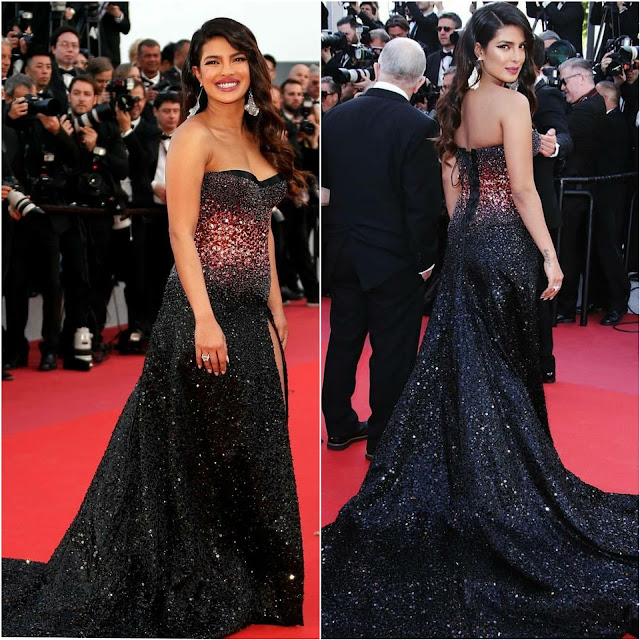 Priyanka Chopra Walks the Cannes Red Carpet in Cavalli
