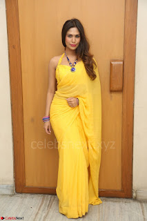 Nishigandha in Yellow backless Strapless Choli and Half Saree Spicy Pics 165.JPG