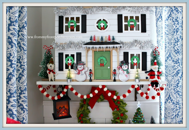 Christmas- Farmhouse -Cottage- Breakfast -Nook-Hearth & Hand- Doll -House- Pom Pom Garland-Felt-Ornaments-From My Front Porch To Yours