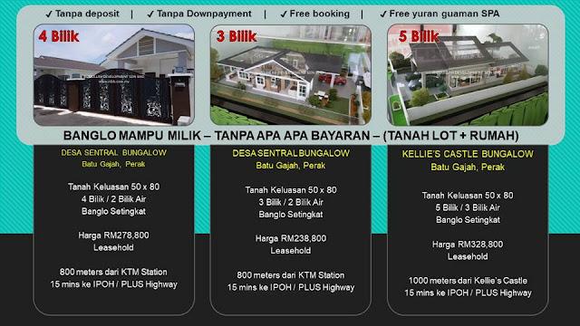 Senarai Rumah Banglo Mampu Milik di Negeri Perak