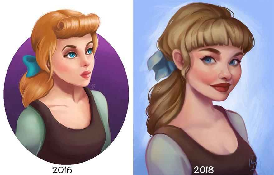 Princess-disney-ilustração-due-anni-di-pratica-02