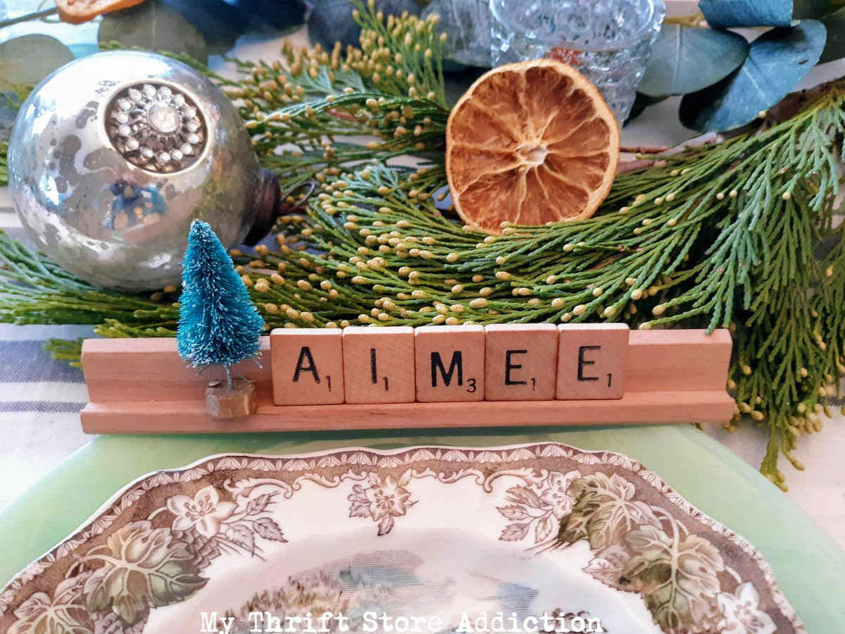 Scrabble Tile Christmas Place Cards