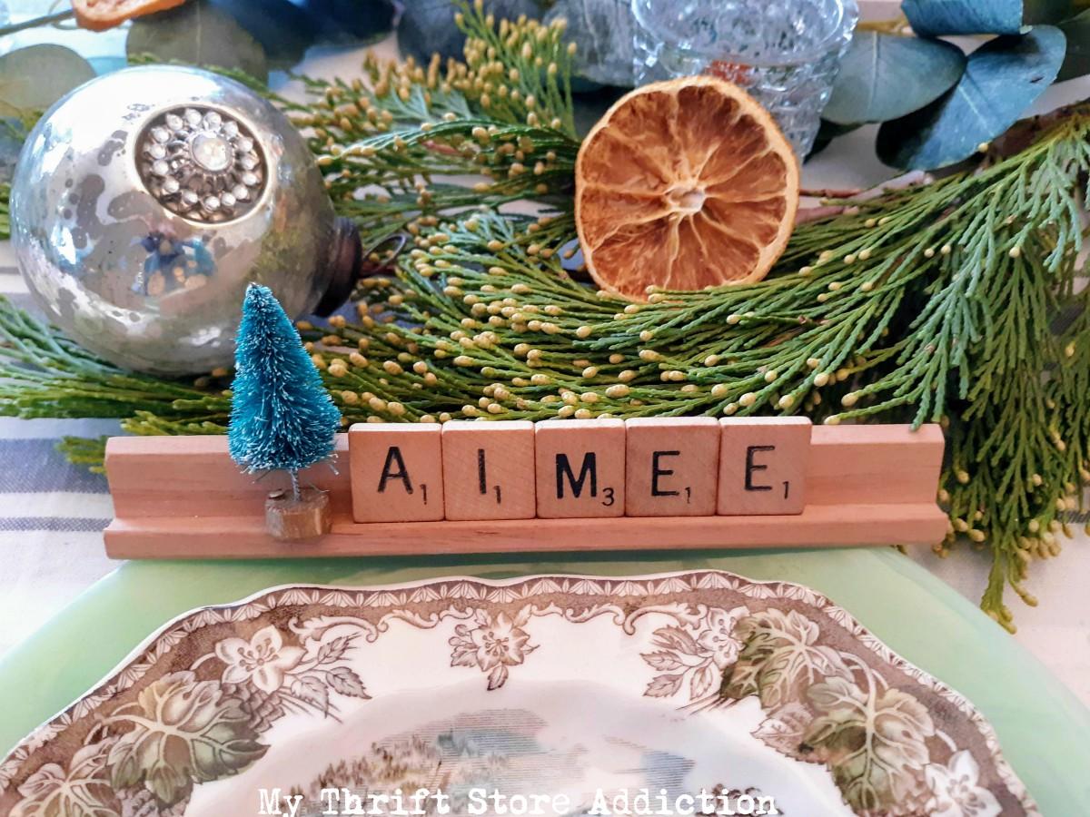 Scrabble Tile Christmas Place Cards