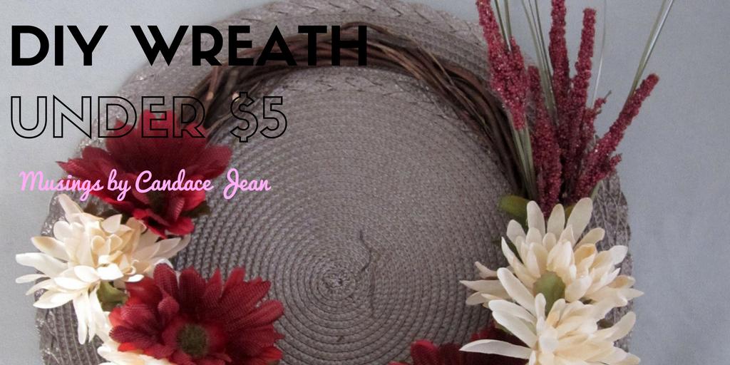 DIY Wreath:  Make your own wreath for under $5