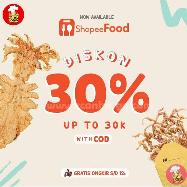 MASTER SQUID Promo DISKON hingga 30%  Khusus via SHOPEE FOOD With COD