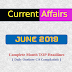 JUNE 2019 : Complete Month Current Affairs Oneliners ( Daily CA Compilation )