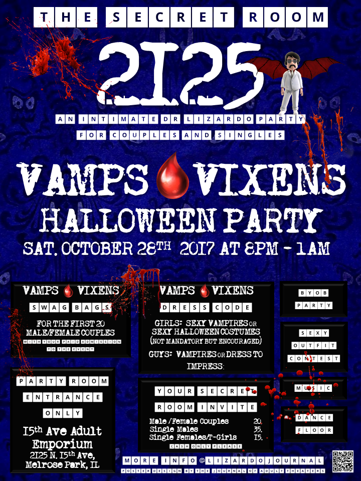 The Secret Room 2125: Vamps & Vixens Party at 15th Ave. Adult Theater Party Room in Chicago!