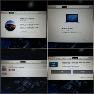 "Laptop MacBook Pro A1286 Core i7 2.6GHz 17"" HDD 256GB RAM 8GB 2012 Seken"