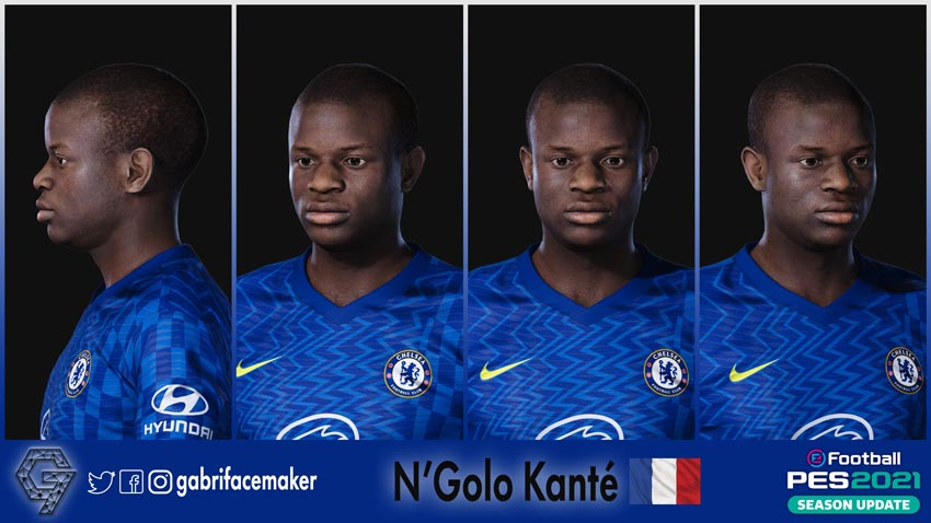 N'Golo Kanté Face For eFootball PES 2021