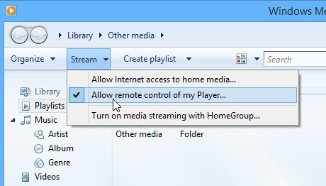 Allow remote control of my Player.