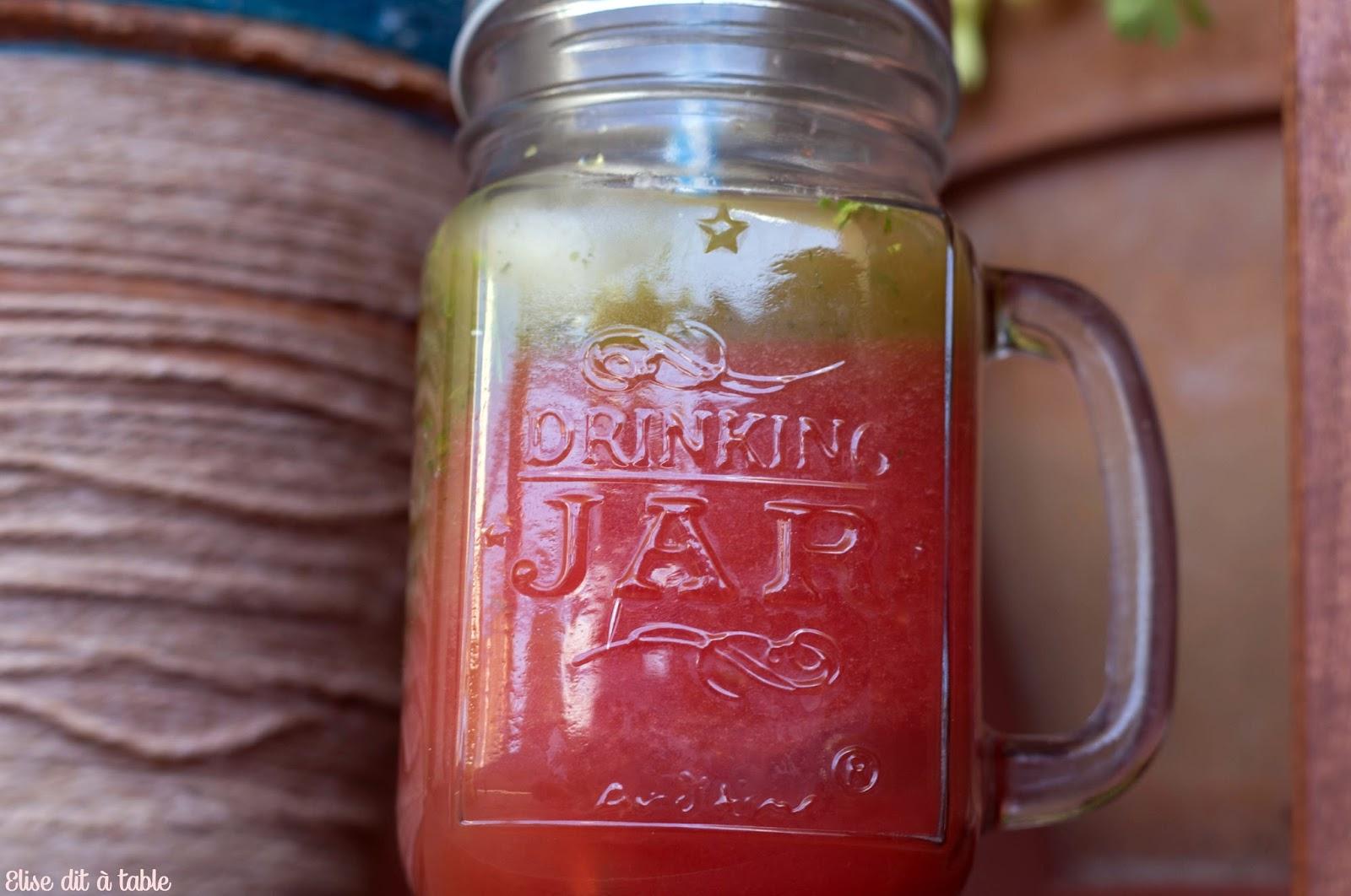 recette jus pastèque persil citron