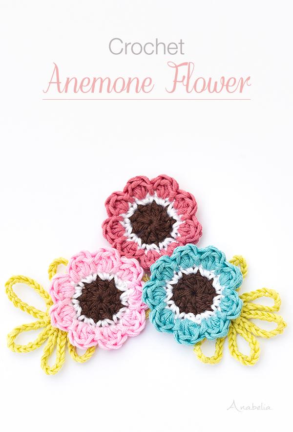 Anemone Crochet Flower, Anabelia Craft Design