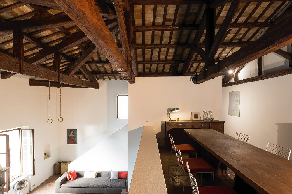 La ristrutturazione di un appartamento in una villa antica
