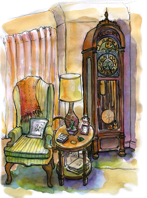 One Thing Ill Always Remember About My Visit To Chicago Is This Antique Clock In A Corner Of Mother Laws Living Room