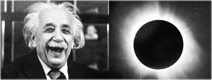 teoria de einstein comprovada no Ceará - eclipse solar total de 29 de maio de 1919