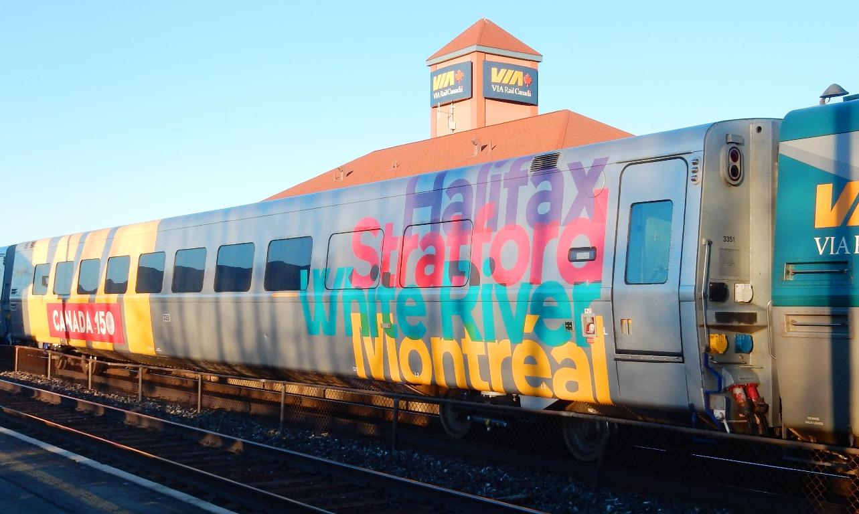 Trackside Treasure: VIA Rail\'s CANADA 150 Wraps