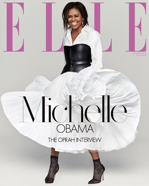 Michelle Obama covers ELLE Magazine's December Issue Michelle Obama is the cover star for the December...