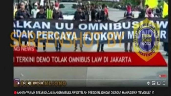 """Cek Faktanya: """"Akhirnya MK Resmi Gagalkan Omnibus Law"""""""