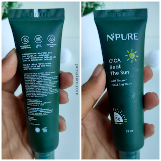 NPURE Cica Beat The Sun Ingredients