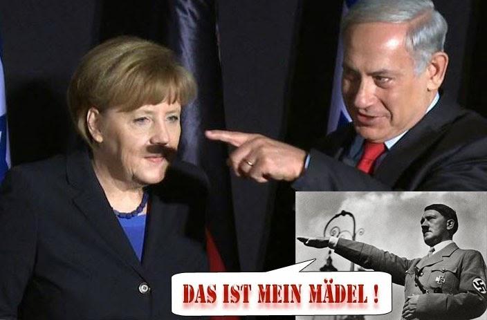 Angela Merkel Hitler lustiges Bild mit Spruch