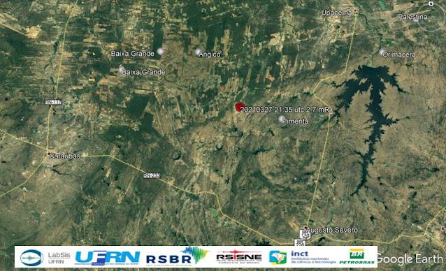 Tremor de terra de magnitude 2.7 é registrado em Caraúbas, RN
