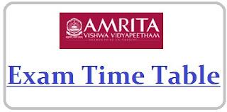 Amrita University Exam Date Sheet 2020