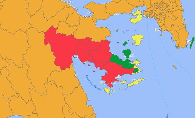 Στο επίπεδο 4 του Επιδημιολογικού Χάρτη παραμένει η Αργολίδα μέχρι την 1η Οκτωβρίου