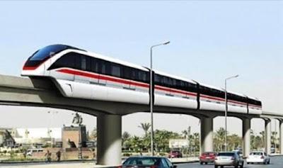 النقل توضح سبب تعطل مشروع القطار المعلق