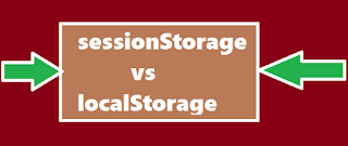 What is the difference between sessionStorage & localStorage