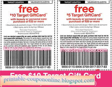 Target coupons printable