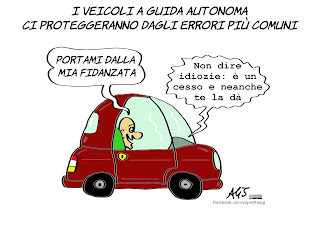 vignette, concorsi umoristici, scoomix, robot, umorismo, auto a guida autonoma, automi, progresso, futuro
