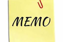 Contoh MEMO Permohonan Filling Kabinet dan Laci Sorong