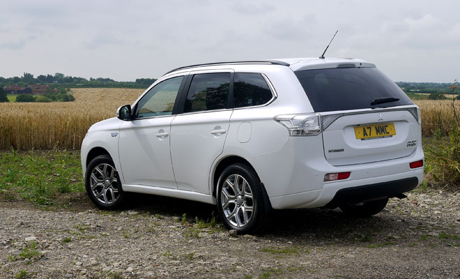 Mitsubishi Outlander PHEV rear view