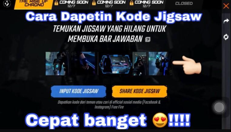Input Kode Jigsaw FF
